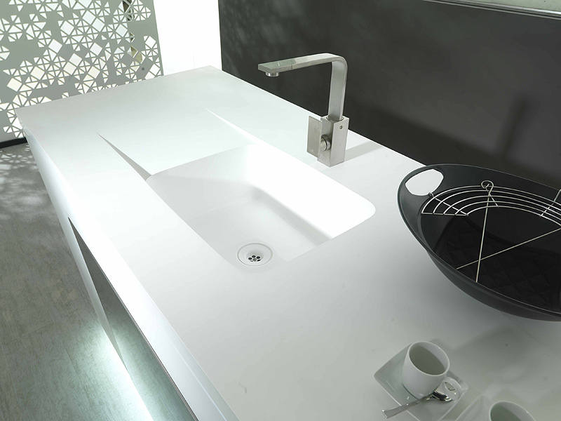 Encimeras Baño Krion:PORCELANOSA Krion Sinks