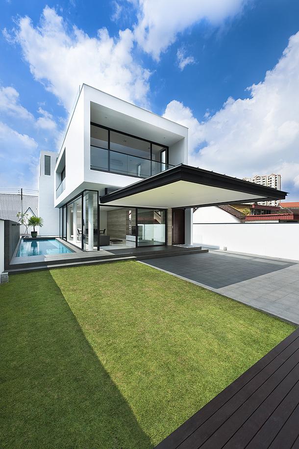 elegante casa minimalista proyectada por park