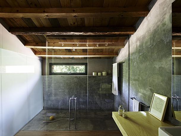 Muebles Baño Rusticos Girona:Polished Concrete Shower Floor