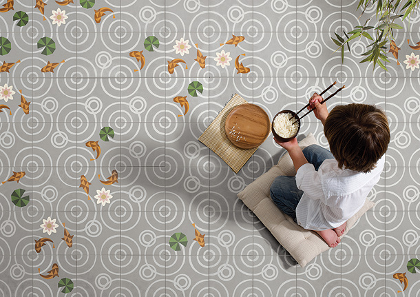 Baños Japoneses Antiguos:La bella colección de mosaico hidráulico de Mut Design para Entic