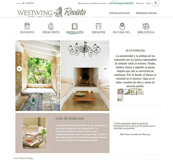 Westwing nuevo portal de ventas online de decoraci n de for Cosas de casa decoracion catalogo