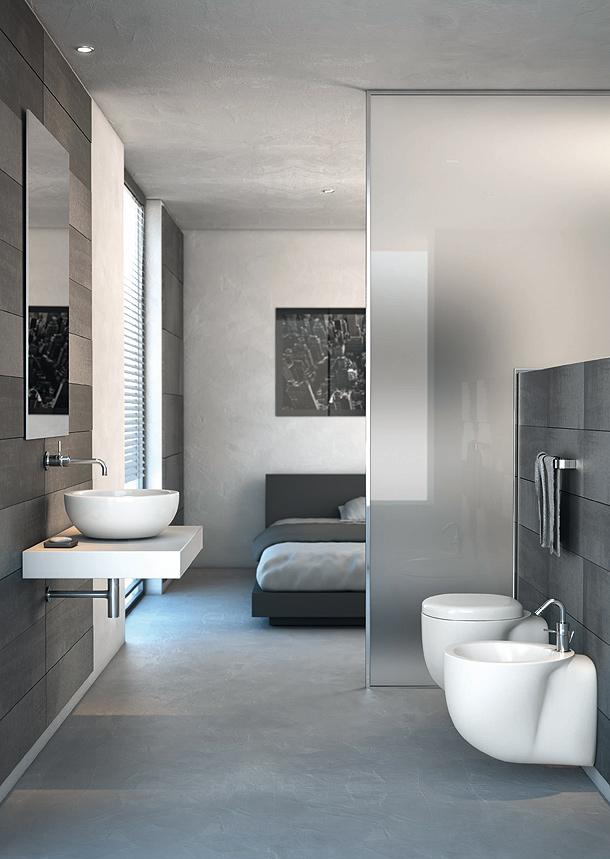 Strada nueva colección de lavabos, muebles y espejos de Ideal