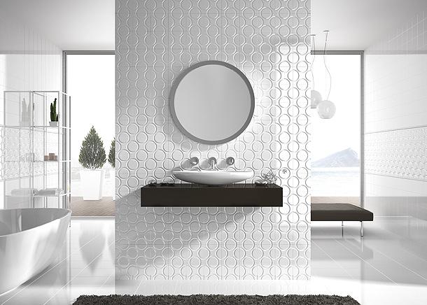 Azulejos Baño Aparici:Revestimientos cerámicos con relieve: nueva vida para las paredes