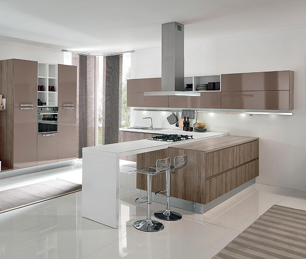 Nueva coleccion de cocinas contemporaneas terra de aran cucine for Kitchen cabinets lowes with papier pour carte grise