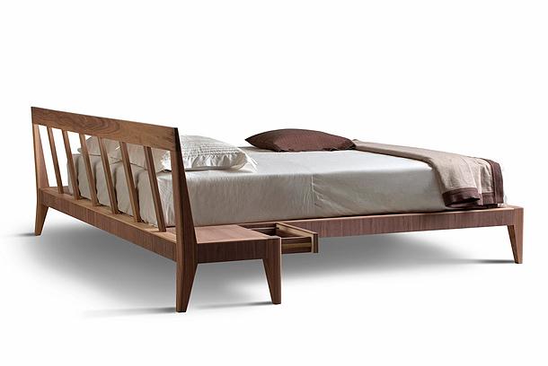 Morelato presenta tres nuevas y modernas camas de madera for Que medidas tiene una cama individual