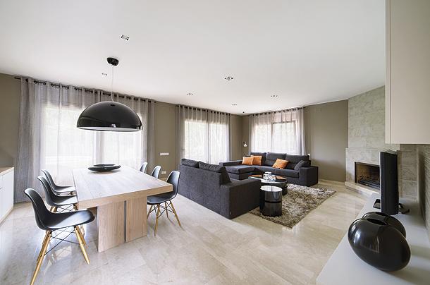 Moderno dise o interior en una casa en sant cugat por cm2 disseny - Alfombras sant cugat ...