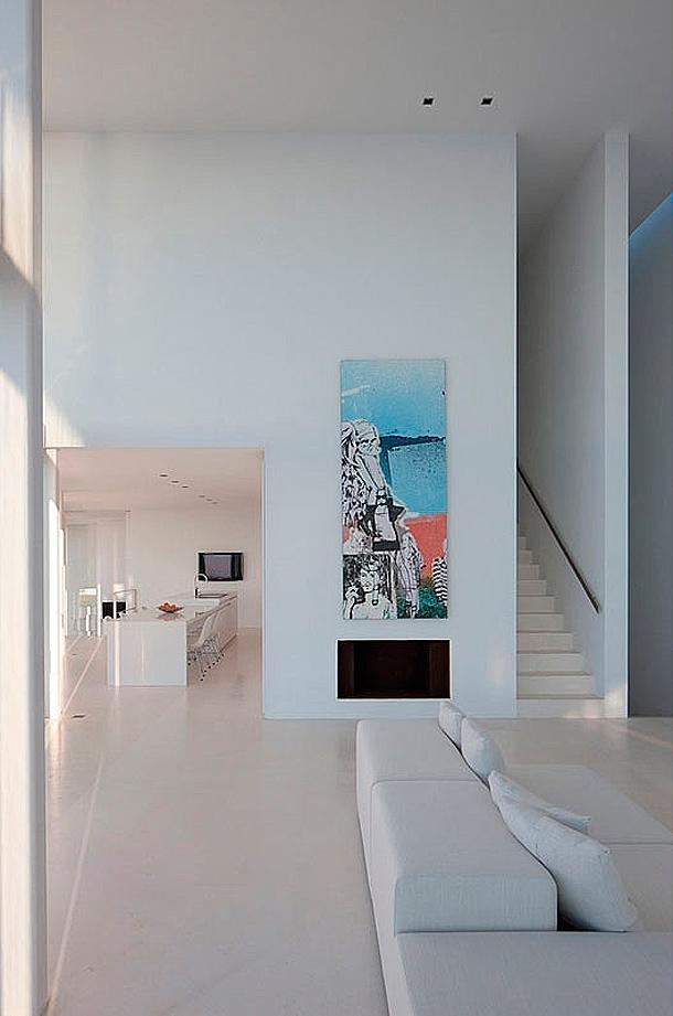 Casa minimalista en ibiza modelada por el arquitecto for Casa minimalista interior cocina