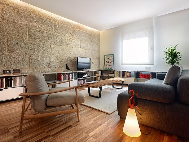 Moderno apartamento para una joven pareja por castroferro for Pisos interiores modernos