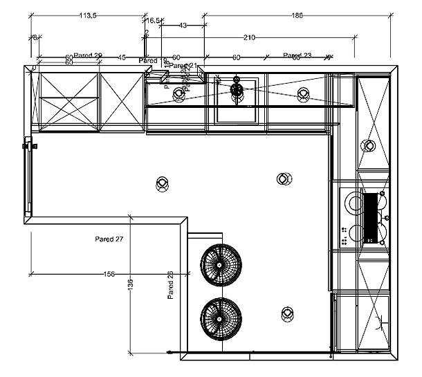 Rehabilitaci n integral de una cocina y un ba o por sergi for Dimensiones de mobiliario de cocina