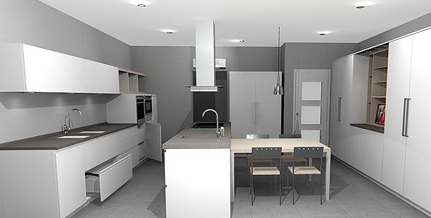 Reforma de una cocina y un ba o por decuina - Decoracion con microcemento ...