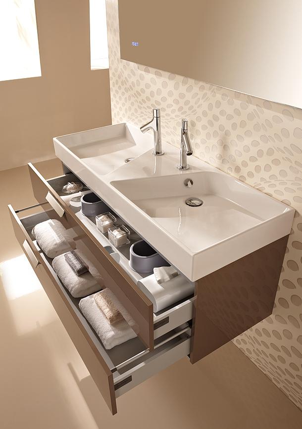 Lavabos Para Baño Kohler:Rythmik: muebles y lavabos de líneas geométricas de Jacob Delafon