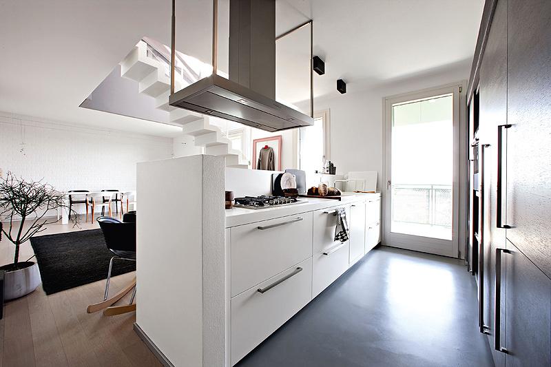 Cocina contempor nea abierta al sal n comedor dise ada por for Unir cocina y salon