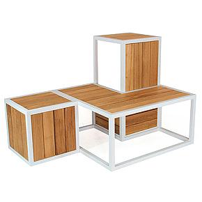 Cubico: sistema modular de exterior para crear tu propio mobiliario