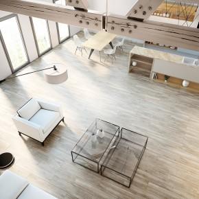 Techlam by Levantina se adentra en la experiencia digital con Wood y Steel