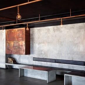 Restaurante y bar de alma industrial minimalista, por Richard Lindvall