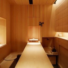 Sala para la ceremonia del regalo en el Club Miwa de París, por Fumihiko Sano