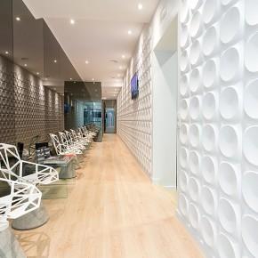 Ampliación de aire futurista para una clínica dental, por Cm2 Disseny