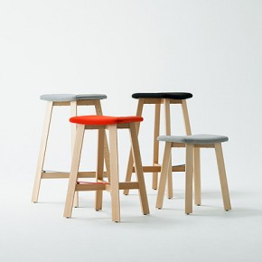 Colección de taburetes Bevel diseñada por Sohei Arao para Punt