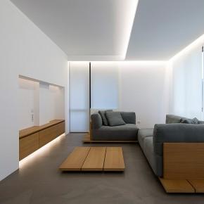 Un apartamento de interiores serenos, por el arquitecto Elia Nedkov
